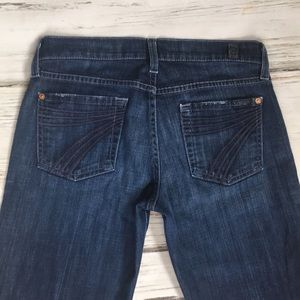 7 For All Mankind Dojo Flare Leg Denim Jeans 26